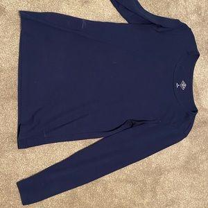 100% cotton long sleeve navy shirt